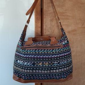 Large Bohemian Leather Duffle Bag